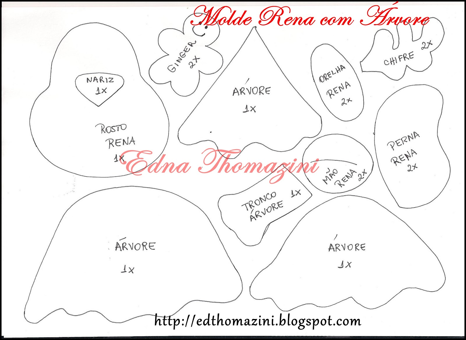 Edna Thomazini ~ Molde de Edna Thomazini