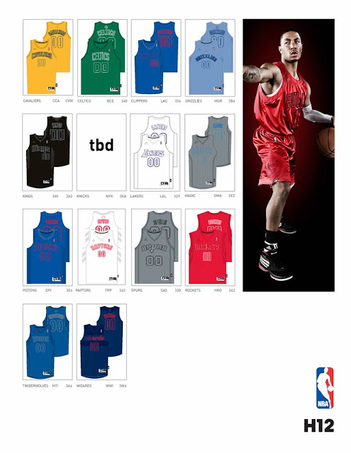 NBA New Winter League Uniforms