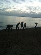skimming stones...