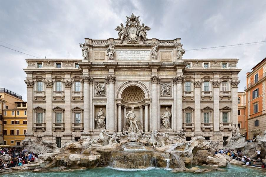 Trevi Fountain, Rome, Italy Famous European Places, Most Famous Places in Europe