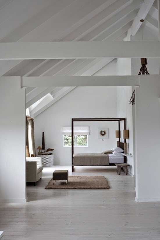 Safari Fusion blog | Four-poster beds | Stylish Afri-Scandi simplicity in a Somerset West (Cape Town) home, South Africa