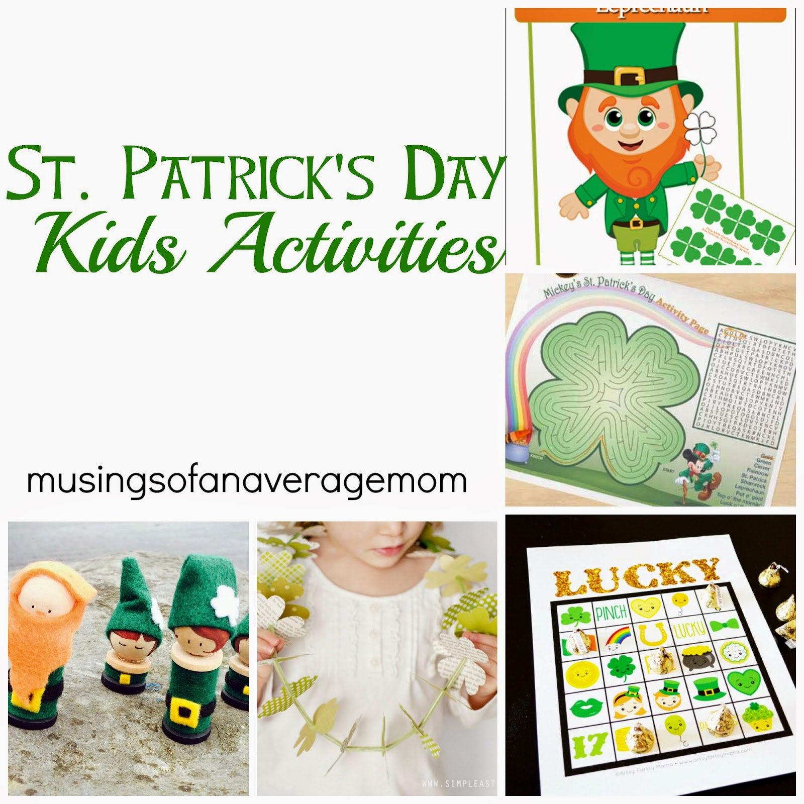 St. Patricks Day Kids Activities Round-Up