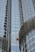 'Spiderman' scales the world's tallest tower in Dubai. pb spiderman dubai cr