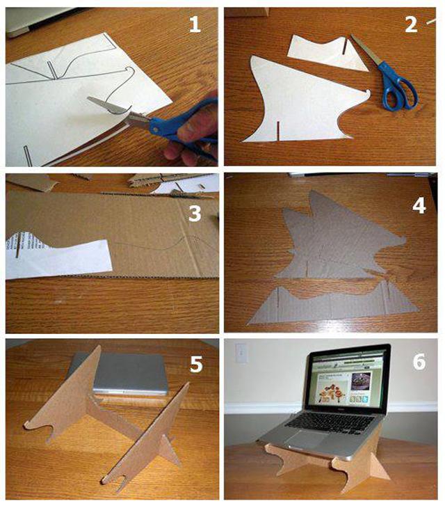 Como fazer um apoio para notebook com um pedaço de papelão