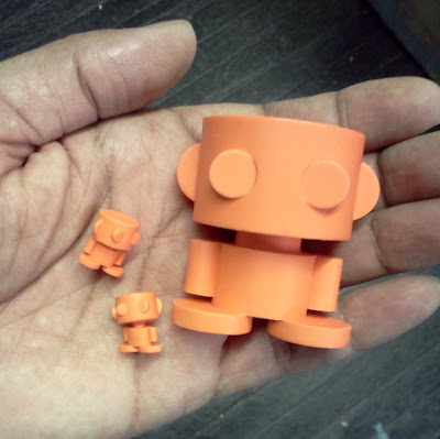 New York Comic-Con 2012 Exclusive O&#8217;Bot Resin Figures by Carbon-Fibre Media - Micro O'Bots & Original O&#8217;Bot