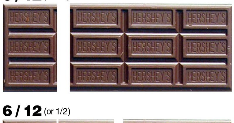 E Is For Explore Hershey Fractions
