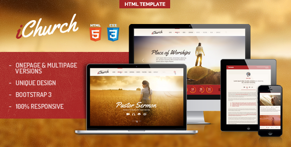 Premium Church website template