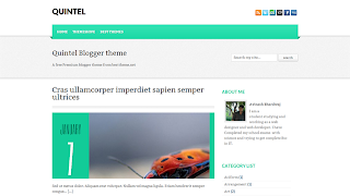 Quintel Blogger Template  : Clean And Simple Style Free Premium Blogger Template