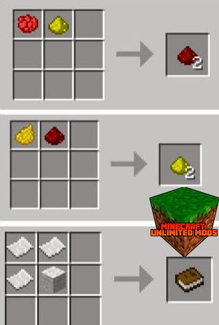 Simple Recipes Mod craftings