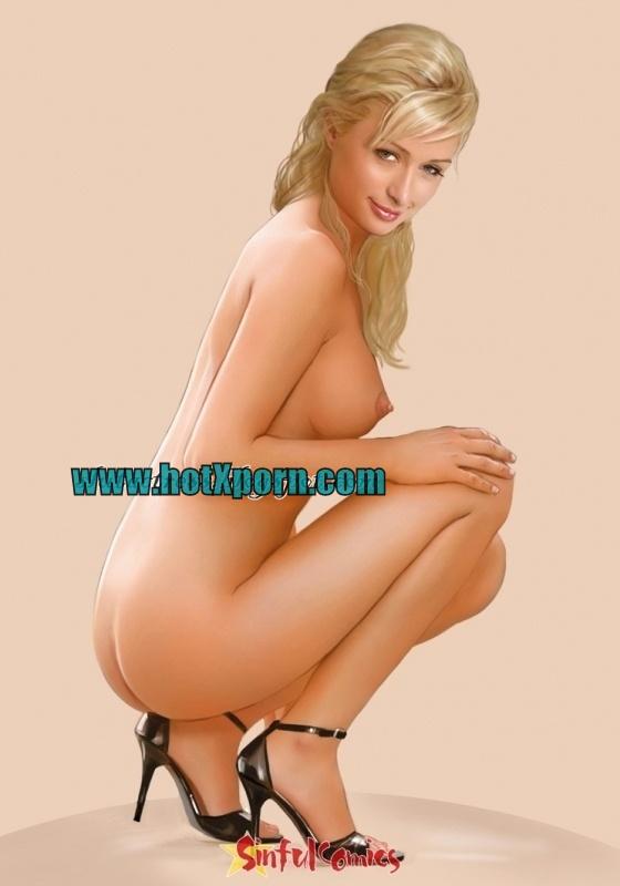 Paris Hilton Posing Nude