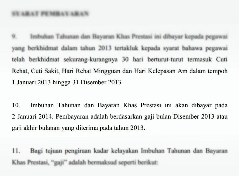 Tarikh Pembayaran Bonus Kakitangan Kerajaan 2014 | Pekeliling