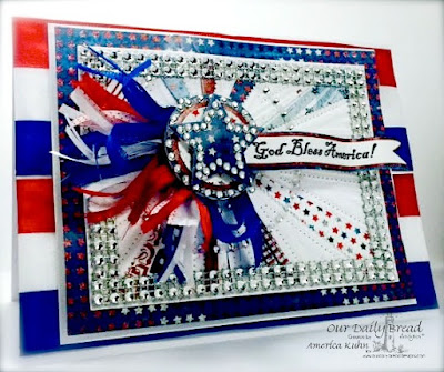 Our Daily Bread Designs Stamp sets: God Bless America, ODBD Custom Dies: Sunburst Background