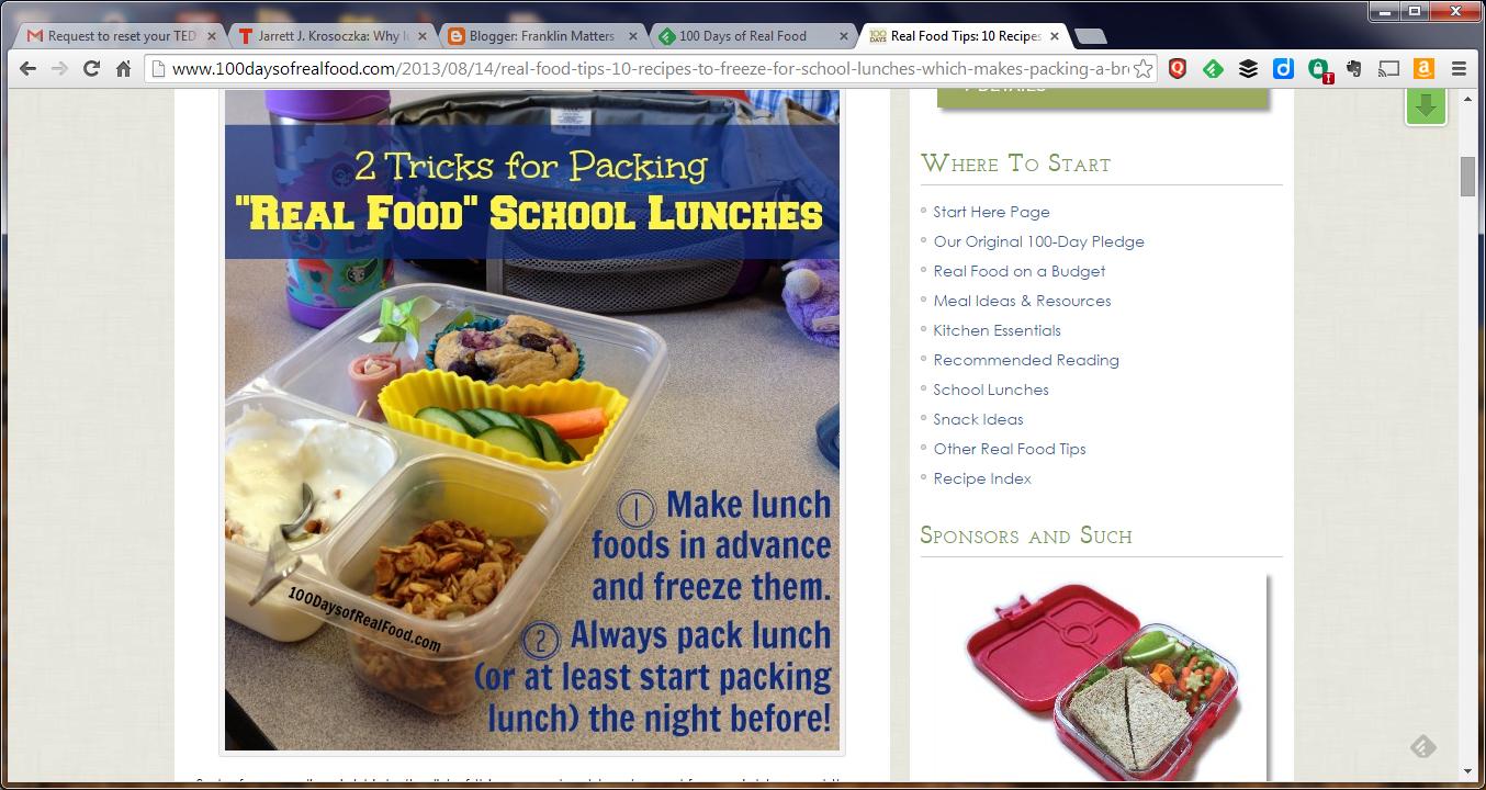 Lisa Leake's 100 Days of Real Food website