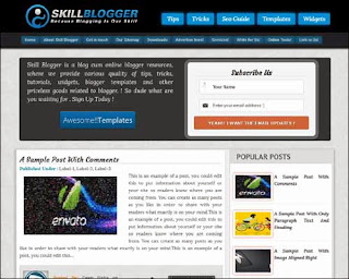 Skill Free Blogger Template for Best