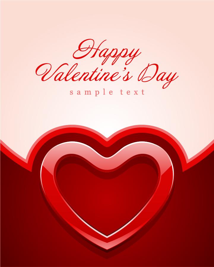 バレンタインデーのハート型背景 valentine day heartshaped texture vector background イラスト素材2