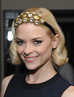 Jaime King Big Jeweled Headband Hairstyle