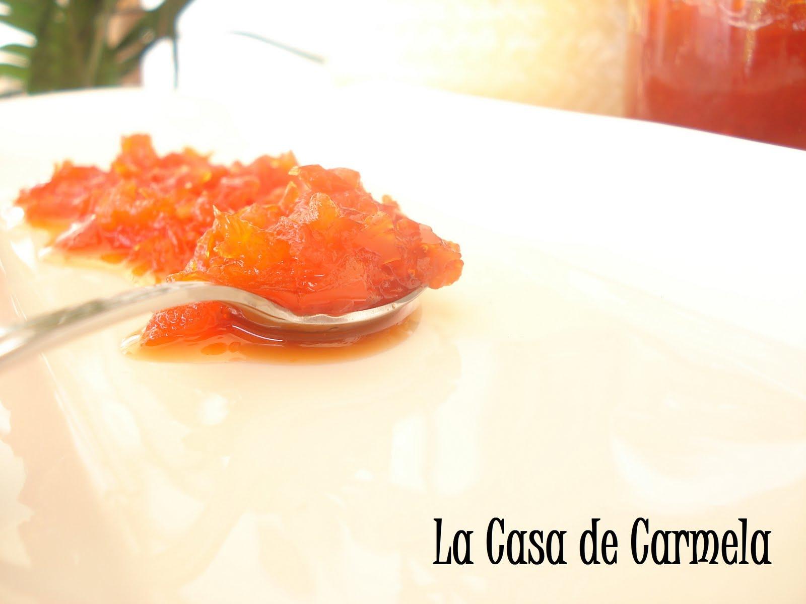 La casa de carmela mermelada de pimiento rojo - Mermelada de pimientos rojos ...