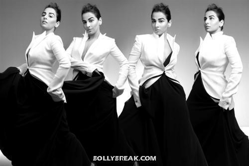 Vidya Balan poses - (5) -  Vidya Balan Harper's Bazaar March 2012