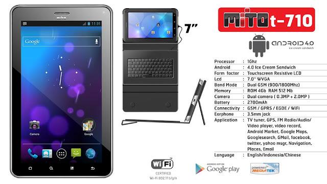 Mito T710: Tablet dengan Keyboard Eksternal, Harga Lebih Terjangkau