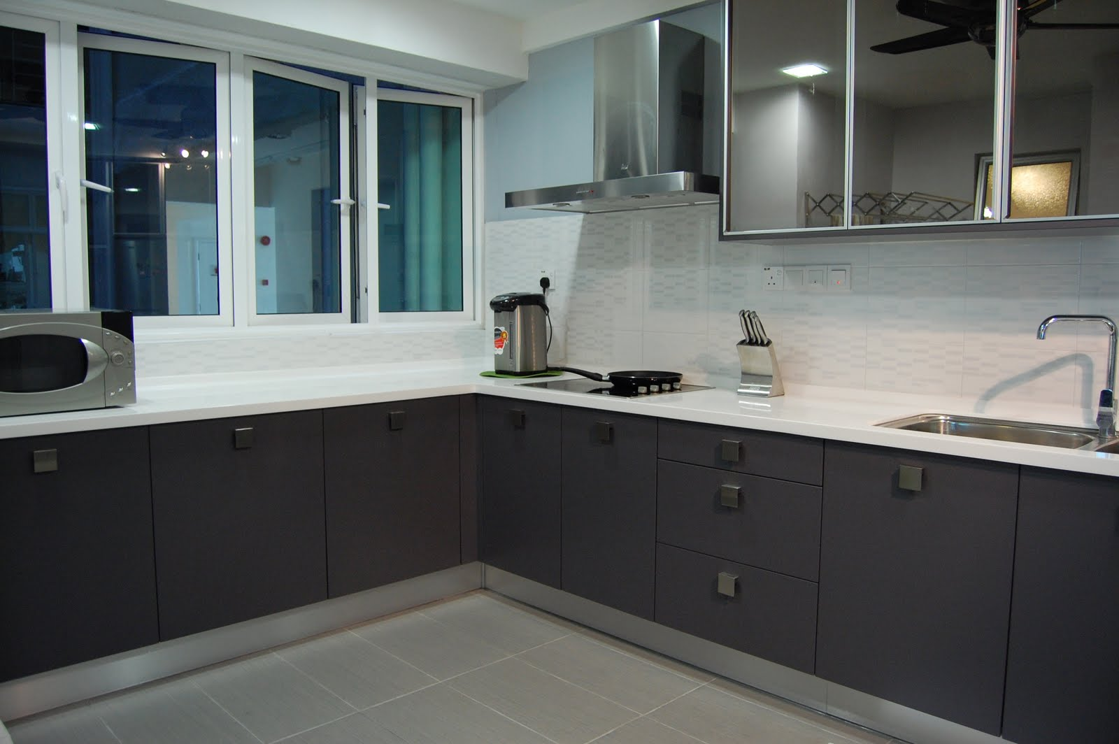 Meridian Design Kitchen Cabinet And Interior Design Blog Malaysia Using A Grey Scheme Casa