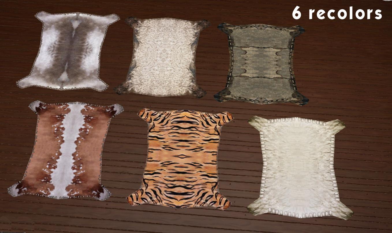 ts4 animal skin rug - Animal Skin Rugs