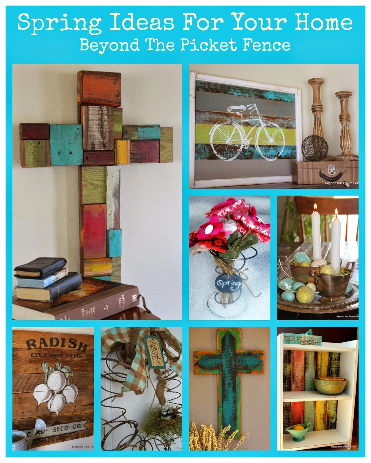 spring ideas, reclaimed wood, home decor, spring is in the air, paint, Beyond The Picket Fence, http://bec4-beyondthepicketfence.blogspot.com/2015/02/spring-ideas-are-you-ready.html