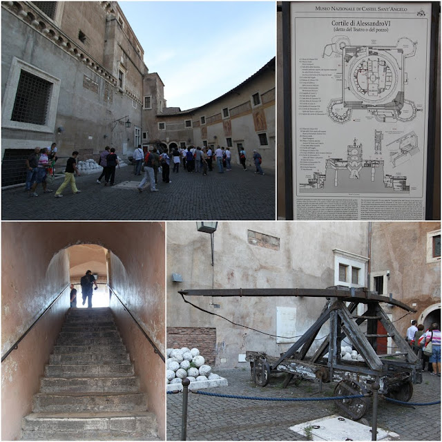 Cortile di Alessandro VI of the Castel Sant'Angelo in Rome, Italy