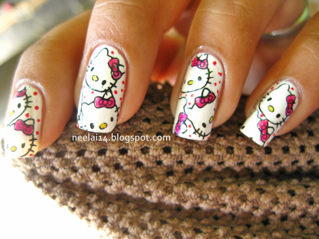 The Astonishing Hello kitty nail designs for long nails Image
