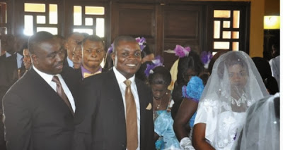 Benue State Governor Gabriel Suswam  Plays The Role Of A Best Man At A Cook's Wedding