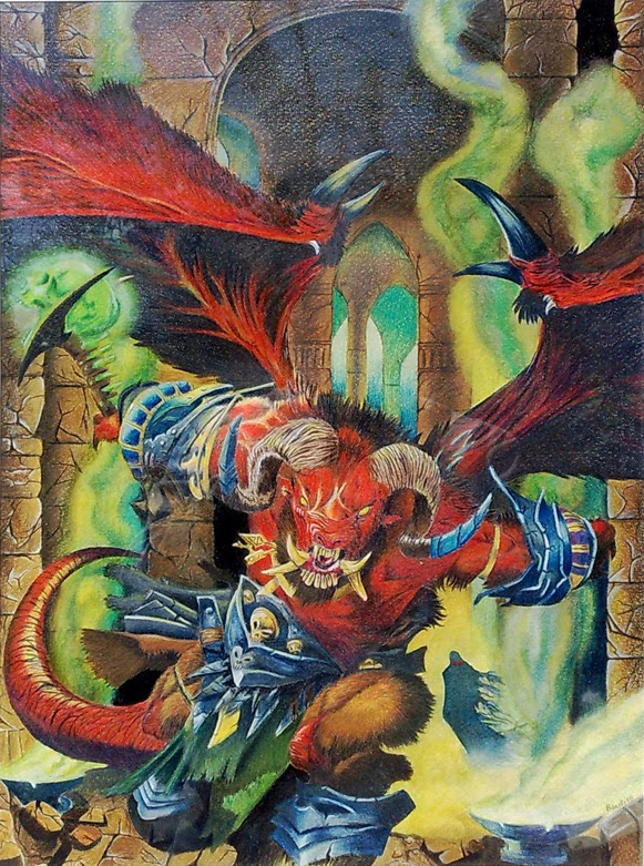 Orcus principe dei non morti matite derwent artists Fabriano Disegno 5 Dungeons and dragons