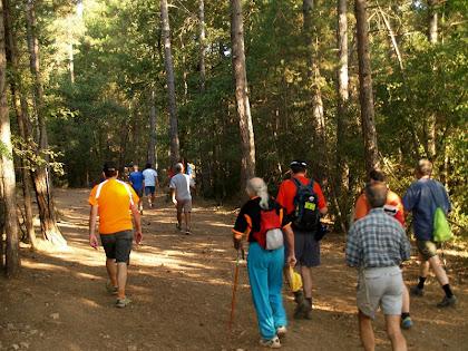 Travessant la Serra de la Moretona per la banda nord