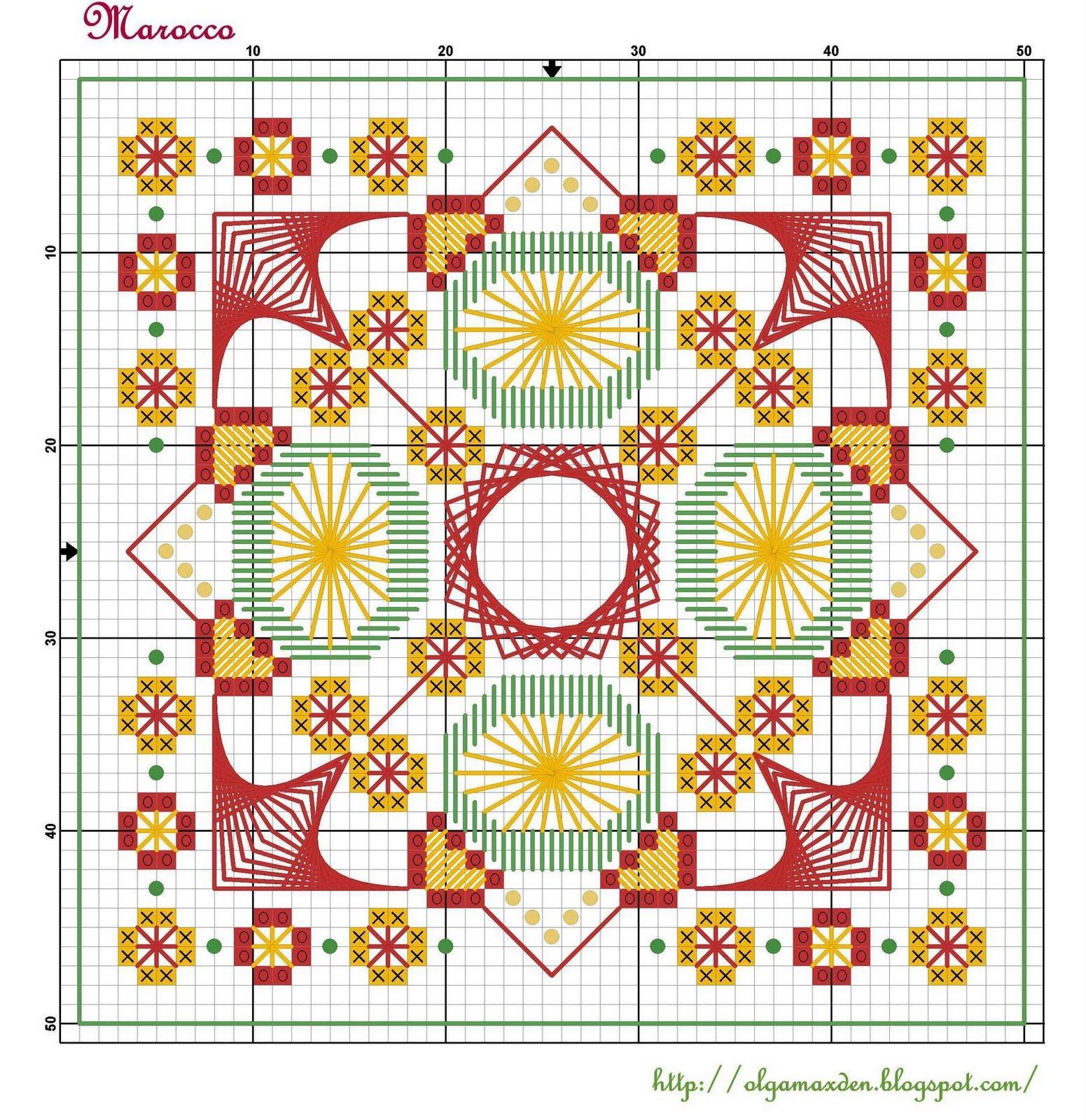Схемы для марокканской вышивки