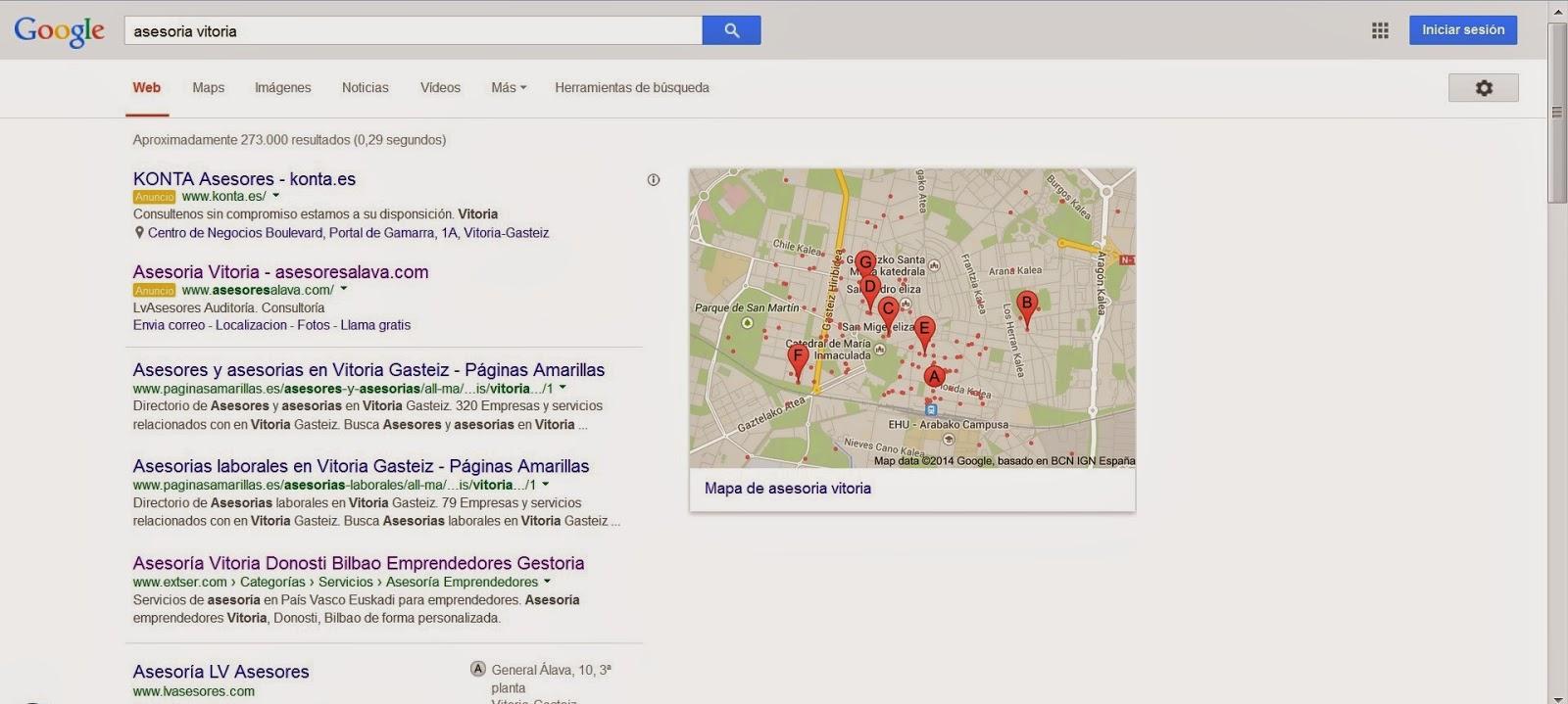 Extser posición 3 google posicionamiento web