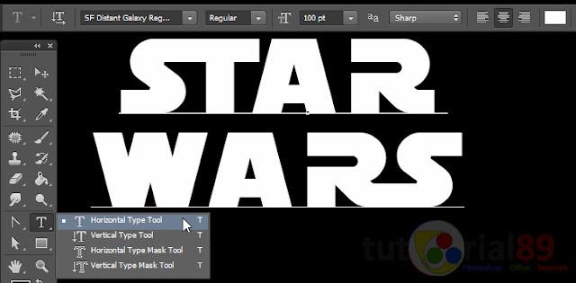 Cara membuat tulisan star wars dengan photoshop