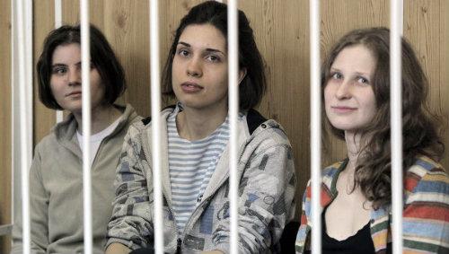 Yekaterina Samutsevich, Nadezhda Tolokonnikova, Maria Alyokhina