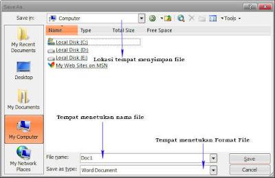 Cara Membuat, Membuka dan Menyimpan Dokumen di Microsoft Word