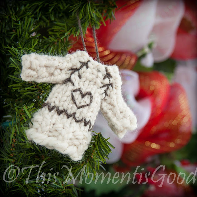 Free Knitting Patterns For Sweater Ornaments : This Moment is Good!: LOOM KNIT SWEATER ORNAMENT PATTERN!