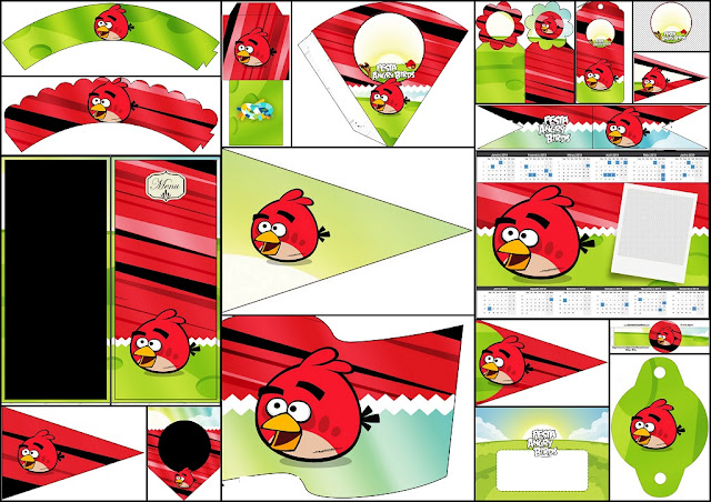 Angry Birds: Imprimibles Gratis para Fiestas.