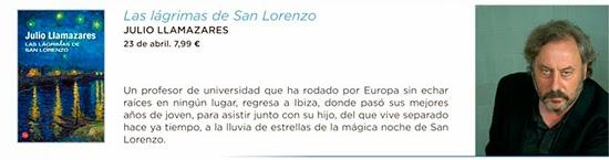 Las lágrimas de San Lorenzo de Julio Llamazares