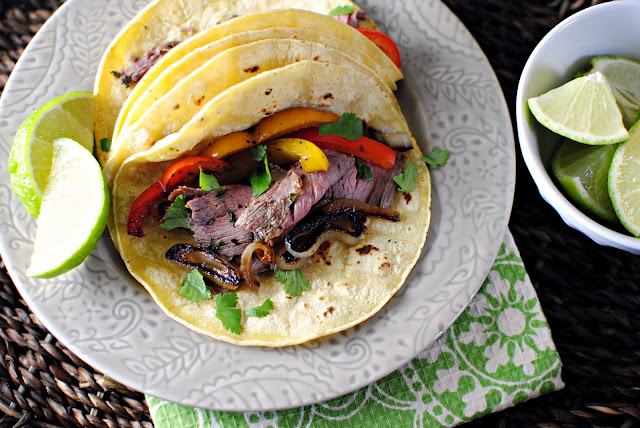 Chimichurri Steak Fajitas l SimplyScratch.com