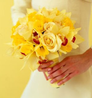 yellow wedding flower