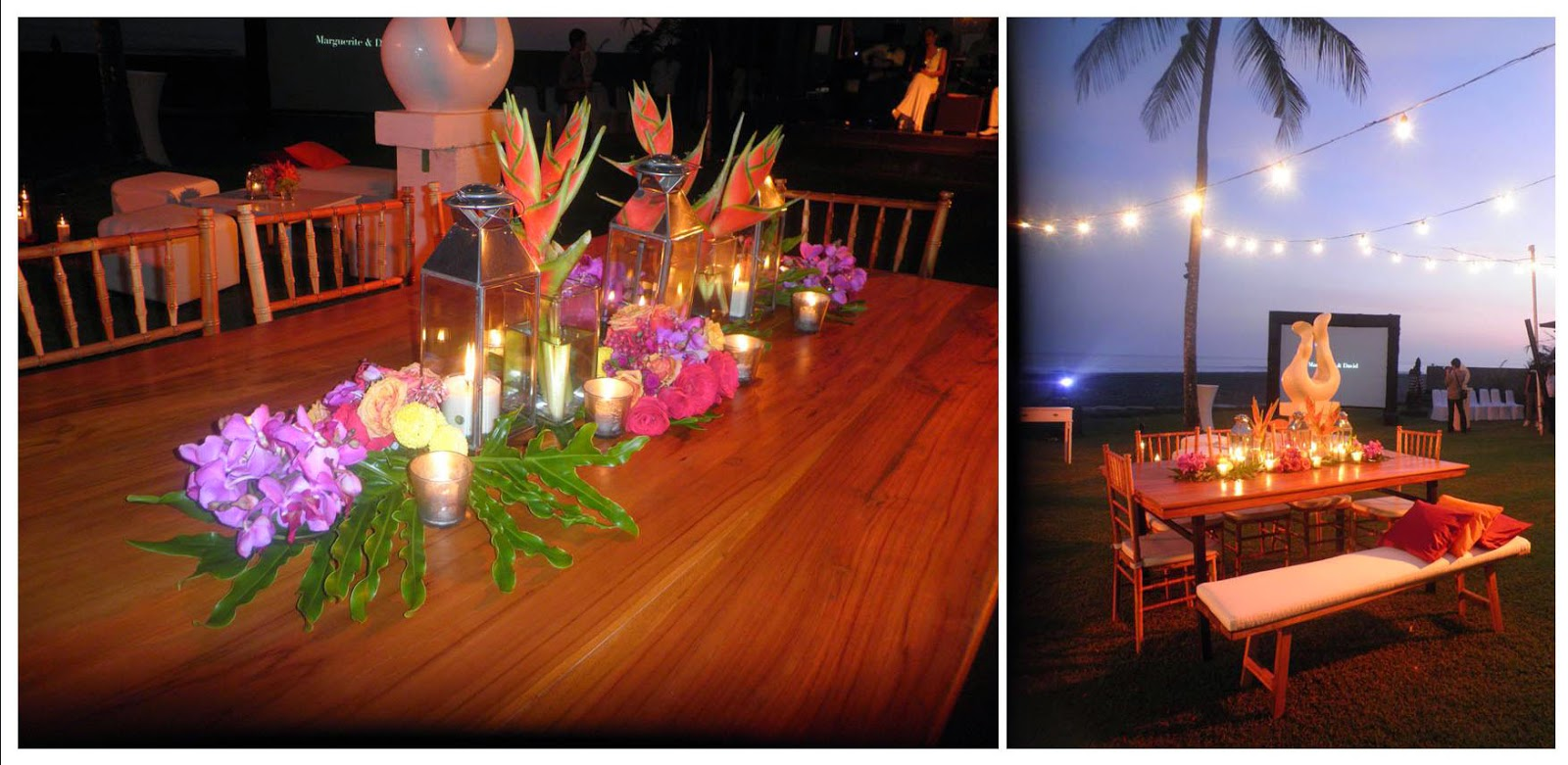dinner table centerpieces & dinner seating arrangement