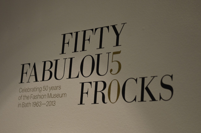 Fifty Fabulous Frocks exhibition