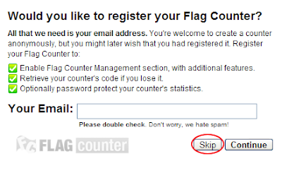 cara memasang widget flag counter pada blog