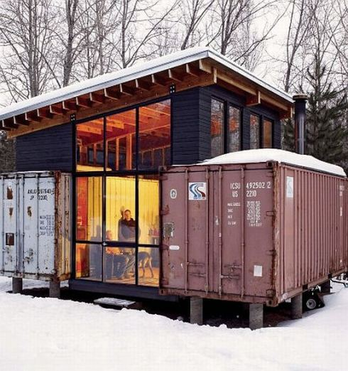 Shipping container homes hive modular holyoke corten cabin minnesota container home - Building a home out of shipping containers ...