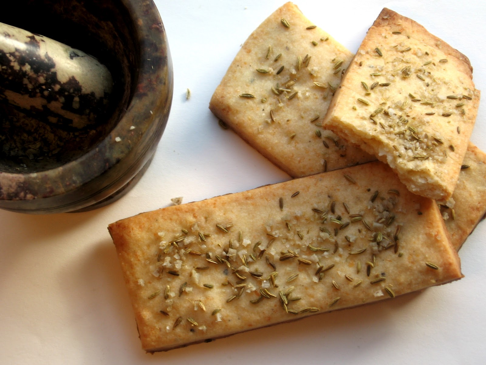 Parmesan Shortbread with Fennel and Sea Salt | Bake Your Face Off!
