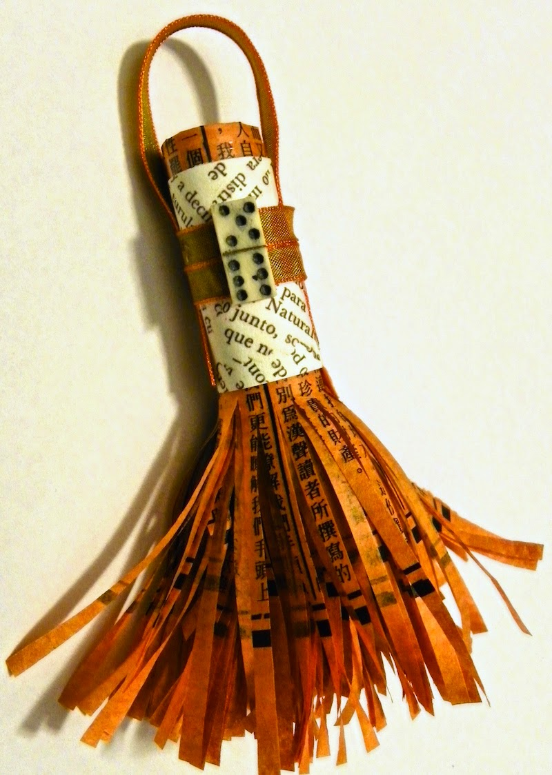 how to make a paper tassel with fringe scissors