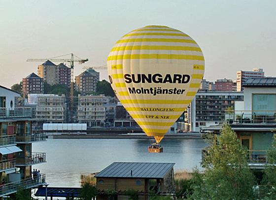 Luftballong i Hammarby Sjöstad.