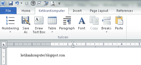 membuat tab ribbon baru ms word 2010