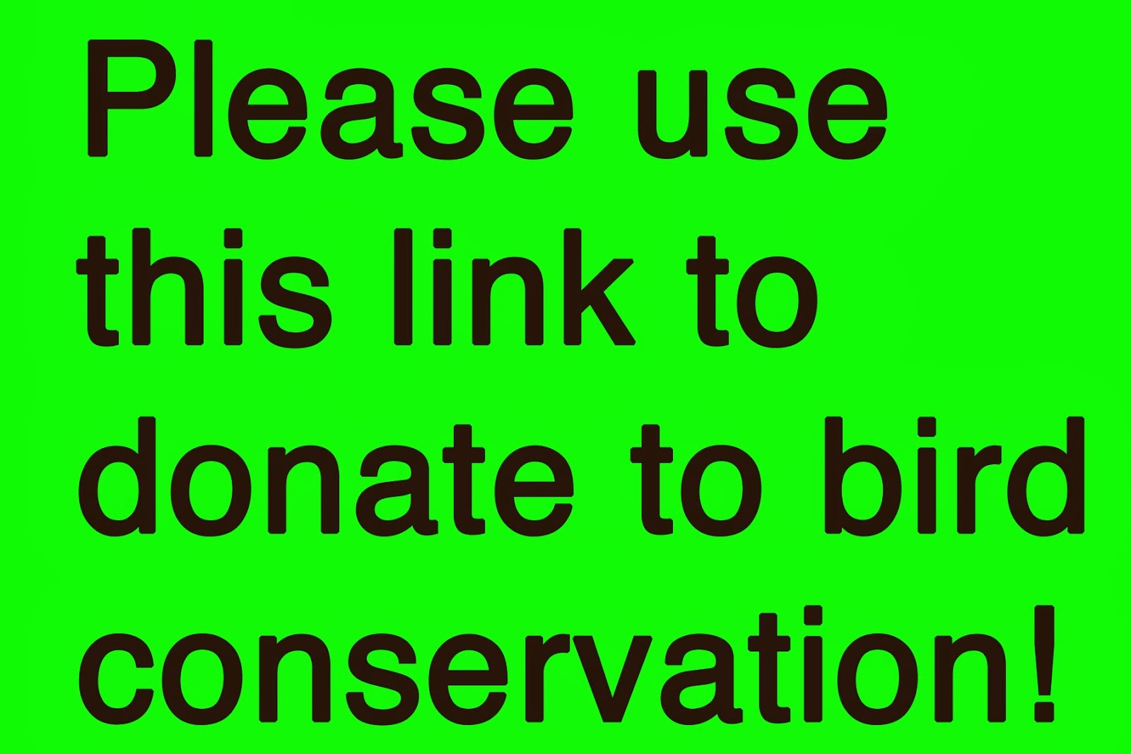 Donate for bird conservation